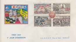 Enveloppe  FDC  1er  Jour  MONACO   Centenaire   Du   FOOTBALL   1963 - FDC