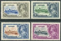 Ceylon 1935 Michel #212/15 VF/MNH. Silver Jubilee KGV. (Ts04) - Familles Royales