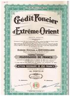 Titre Ancien - Crédit Foncier D'Extrême Orient - Société Anonyme -Titre De 1946 - Banque & Assurance