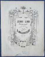 CAF CONC PIANO DANCE POLKA SUÈDE PARTITION XIX ANTON WALLERSTEIN JENNY LIND SOPRANO SWEDISH ILL GALOUZEAU [DE VILLEPIN?] - Other