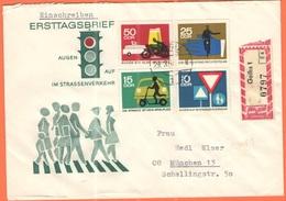 GERMANIA - GERMANY - Deutschland - ALLEMAGNE - DDR - 1965 - 4 X Augen Auf Im Strassenverkehr On FDC Cover - Einschreiben - Storia Postale