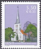 2008, EESTI, 624, Heilig-Kreuz-Kirche, Audru (Audern). MNH ** - Estland