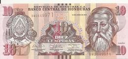 HONDURAS 10 LEMPIRAS 2014 UNC P 99 B - Honduras