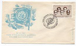 1961 YUGOSLAVIA, SLOVENIA, SPECIAL COVER: UNITED NATION DAY, SPECIAL CANCELATION, LJUBLJANA 24.10.1961 - 1945-1992 Socialist Federal Republic Of Yugoslavia