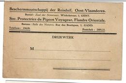 Soc. Protectrice Du Pigeon Voyageur, Flandre Orientale/Beschermmaatschappij Der Reisduif, Oost-Vlanderen, Gent/Gand 1933 - Oiseaux