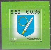 EESTI, 2008, 625, Wappen Vorumaa (Werno). MNH ** - Estland