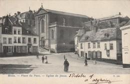 Mons   Place Du Parc Eglise De Jésus  Animée Circulé En 1905 - Mons