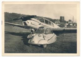 Regensburg Flughafen MESSERSCHMITT Automobile Vintage Car Oldtimer Voiture Ancienne Flugzeug Airplane Avion Aerodrome - Voitures De Tourisme