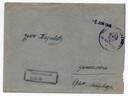 1946 YUGOSLAVIA, 06 JUNE 1945, CENSORED, MILITARY POST  36th DIVISION TO SREM. MITROVICA, SERBIA - Yugoslavia