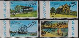 ST.VINCENT GRENADINES 1976 Houses Mayreau Is. MARG.SPECIMEN SET:4 - St.-Vincent En De Grenadines