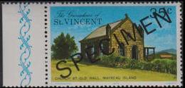 ST.VINCENT GRENADINES 1976 Church 3c Houses Mayreau Is. MARG.SPECIMEN - St.-Vincent En De Grenadines