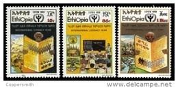 (329) Ethiopia / Ethiopie  Literacy / Alphabetisierung / 1990  ** / Mnh  Michel 1353-55 - Etiopia