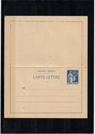 LCA7 - TYPE PAIX 90c CARTE LETTRE DATE 916  NEUVE TTB - Postal Stamped Stationery