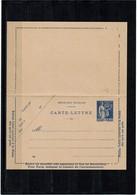LCA7 - TYPE PAIX 65c CARTE LETTRE DATE 822  NEUVE TTB - Postal Stamped Stationery