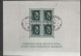 GERMANY1937: Michel Block #7, USED - Deutschland