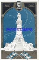 113715 ARGENTINA ART EMBOSSED CENTENARIO & FLAG POSTAL POSTCARD - Argentinien