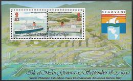 Isle Of Man SG MS531 1992 'Genova 92' Stamp Exhibition Miniature Sheet Unmounted Mint [40/32378/25D] - Isle Of Man