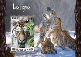 Niger, 2016. [nig16224] Fauna, Tigers (s\s+bl) - Raubkatzen