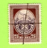LATVIA LETTLAND TIESAS COURT FEE REVENUE STAMP 25 RUBLI  577 - Lettland