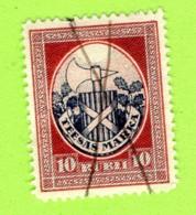 LATVIA LETTLAND TIESAS COURT FEE REVENUE STAMP 10 RUBLI 620 - Lettland