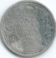 "India - George V - 1911 - 2 Annas - KM514 - ""Pig Elephant"" On Robe - Scarce - Inde"