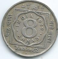 India - George V - 1919 - 8 Annas - KM520 - Bombay Mint - India