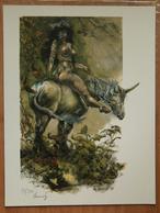 Femme Sur Licorne De René Hausman - Illustratori G - I