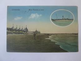 Constanta-Baile Mamaia Si Plaja,1924 Romanian Mailed Postcard - Roumanie