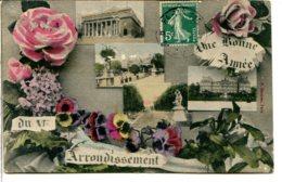 75006 PARIS - Souvenir Du VIème Arrondissement - Pensées Et Roses - Arrondissement: 06