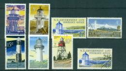 New Zealand 1969-76 Lighthouses, Life Insurance FU Lot71679 - Unused Stamps