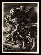 J63-GERMAN EMPIRE-MILITARY PROPAGANDA POSTCARD GERMAN SOLDIER In ACTION.WWII.Hoffmann.DEUTSCHES REICH.POSTKARTE.carte - Deutschland