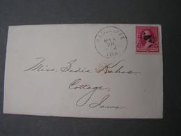 Radcliffe Cv. 1892 Iowa Bank Content - 1847-99 Unionsausgaben