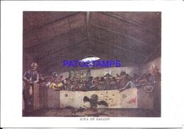113757 ARGENTINA CARD AUGURIOS ART PINTOR MOLINA CAMPOS COSTUMES RIÑA DE GALLOS NO POSTAL POSTCARD - Ansichtskarten