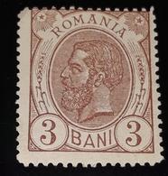 Romania 1893-98,king Charles I, 3b Lilabrown, Watermark PR ,unused, No Gumm - 1881-1918: Carol I.