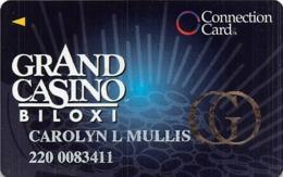 Grand Casino - Biloxi MS - Slot Card  With Large GO - Casino Cards