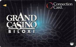 Grand Casino Biloxi MS - BLANK Slot Card - Connection Card With Cpi 2011575 Over Mag Stripe - Casino Cards