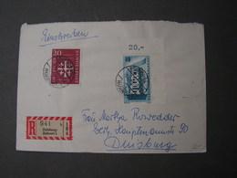 Europa Eckrand Auf Brief 1956 - Cartas