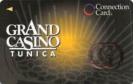 Grand Casino Tunica MS - BLANK Slot Card - Large Gold GO - Casinokarten