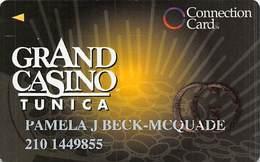 Grand Casino Tunica MS - Slot Card - Large Gold GO - Casino Cards