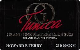 Grand Casino Tunica MS - Slot Card - 2005 Grand One Players Club - Casino Cards