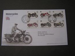 GB FDC 2005 Motorcycles - Blocks & Kleinbögen