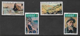 Guernsey SG118-121 1974 Renoir Paintings Set 4v Complete Unmounted Mint [40/32382/25D] - Guernsey