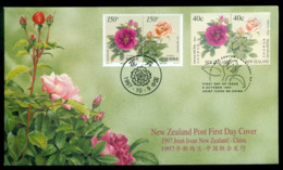 New Zealand 1997 Roses/China Joint Issue FDC Lot52869 - Nuovi