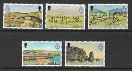 Isle Of Man SG165-169 1980 150th Anniversary Royal Geographical Soc Set 5v Complete Unmounted Mint [40/32383/25D] - Isle Of Man