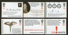 GREAT BRITAIN, 2004 ROYAL SOCIETY OF ARTS 6 MNH - 1952-.... (Elisabetta II)