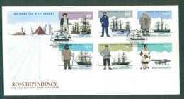 Ross Dependency 1985 Antarctic Explorers FDC Lot50412 - Unused Stamps