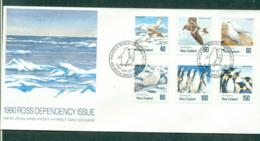 Ross Dependency 1990 Antarctic Birds FDC Lot52885 - Ross Dependency (New Zealand)