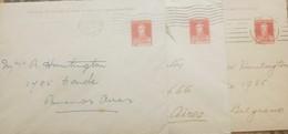 O) 1923 ARGENTINA, SAN MARTIN 5c - 3 PAPER VARIETIES. XF - Argentina