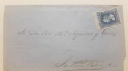 O) 1874 CIRCA - MEXICO, HIDALGO 25c Blue - OVERPRINTED FROM ORIZABA TO SAN LUIS POTOSI - Mexico