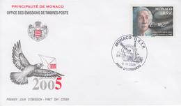 Enveloppe  FDC  1er  Jour   MONACO     Albert   EINSTEIN   2005 - Albert Einstein